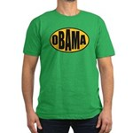 Gold Oval Obama Men's Fitted T-Shirt (dark)
