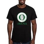 Green O Obama Men's Fitted T-Shirt (dark)