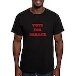 Vote for Barack Men's Fitted T-Shirt (dark)