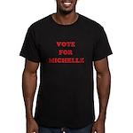 Vote for Michelle Men's Fitted T-Shirt (dark)