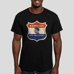 JFK '60 Shield Men's Fitted T-Shirt (dark)