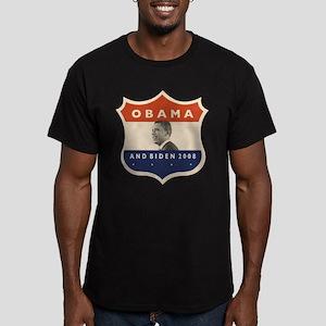 Obama / Biden JFK '60 Shield Men's Fitted T-Shirt