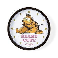 Beary Cute Garfield and Pooky Wall Clock
