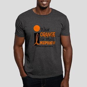 I Wear Orange For My Nephew 9 Leukemia Dark T-Shir