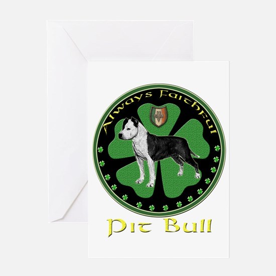 Always faithful Pit Bull Greeting Card