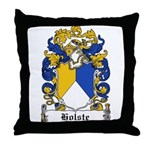 Holste Coat of Arms Throw Pillow