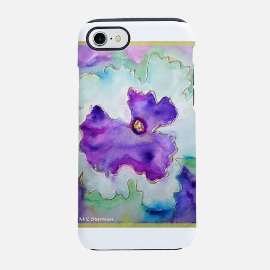 Pansy! Flower art! iPhone 7 Tough Case