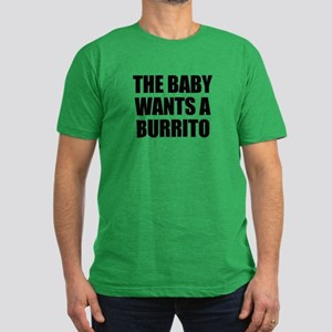 The baby wants a burrito Men's Fitted T-Shirt (dar
