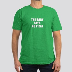 The baby says no pizza Men's Fitted T-Shirt (dark)