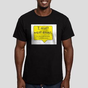 Drug-free birth Men's Fitted T-Shirt (dark)