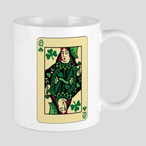 Queen of Shamrocks Card Mug