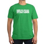 Impeach Obama (L) Men's Fitted T-Shirt (dark)