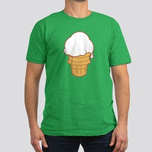 Cute Ice Cream Cone Men's Fitted T-Shirt (dark)