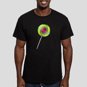 Swirly Lollipop Men's Fitted T-Shirt (dark)