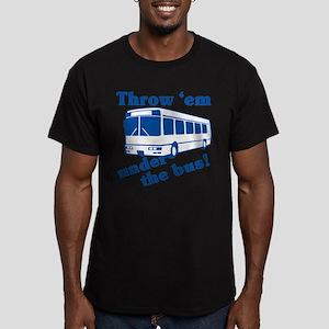 Throw Em Under The Bus Men's Fitted T-Shirt (dark)
