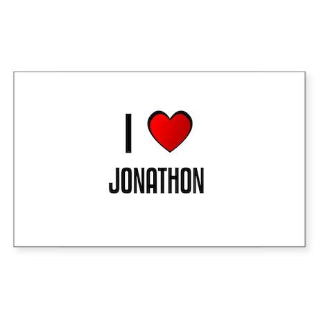 I LOVE JONATHON Rectangle Sticker