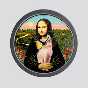 Sphynx Cat & Mona Lisa Wall Clock