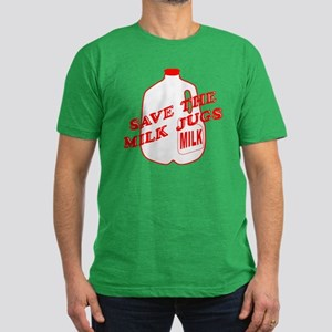 Save The Milk Jugs Men's Fitted T-Shirt (dark)