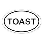 Toast Oval Sticker