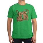 Cute Monkey Couple Men's Fitted T-Shirt (dark)