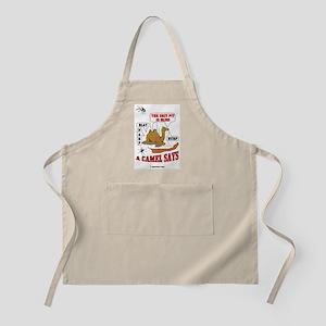 A Camel Says BBQ Apron