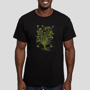 Vintage Shamrock Illustration Men's Fitted T-Shirt