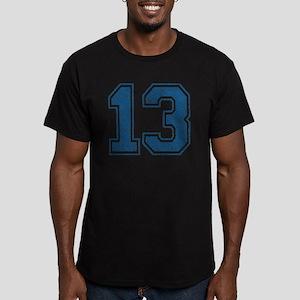 Retro Blue 13 Men's Fitted T-Shirt (dark)