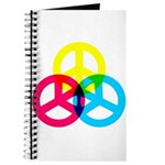 Glowing Colorful Peace signs Journal