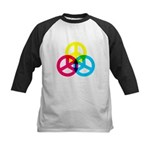 Glowing Colorful Peace signs Kids Baseball Jersey