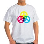 Glowing Colorful Peace signs Light T-Shirt