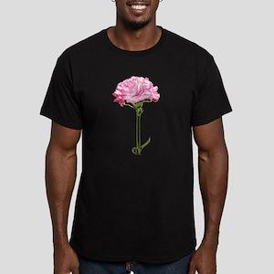 Pink Carnation Men's Fitted T-Shirt (dark)