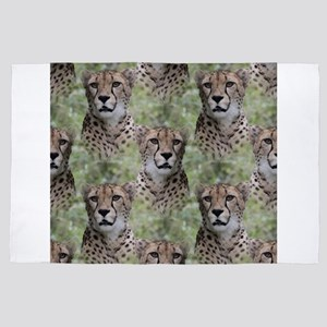 Allover cheetah 4' x 6' Rug