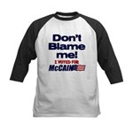 Don't Blame Me Kids Baseball Jersey