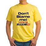 Don't Blame Me Yellow T-Shirt