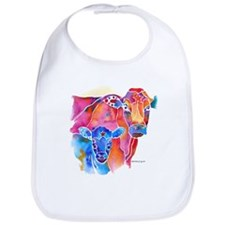 Cow and Calf Vivid Colors Cotton Baby Bib