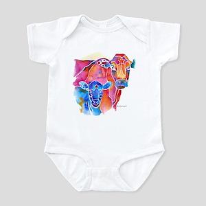 Cow and Calf Vivid Colors Infant Bodysuit