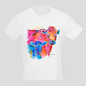 Cow and Calf Vivid Colors Kids Light T-Shirt