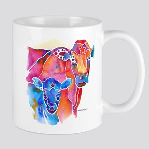 Cow and Calf Vivid Colors 11 oz Ceramic Mug