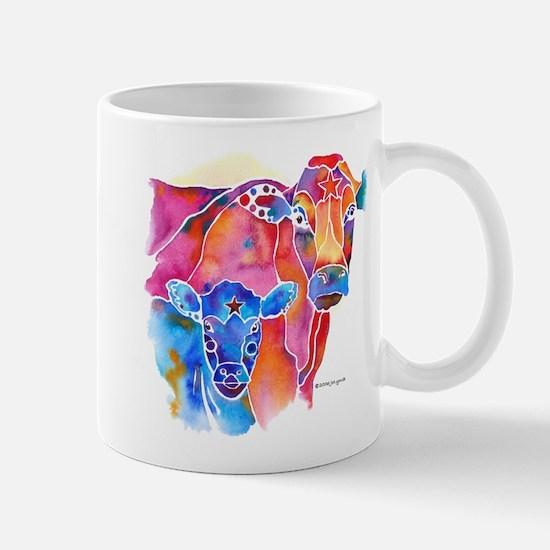 Cow and Calf Vivid Colors Mug