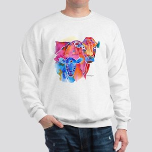 Cow and Calf Vivid Colors Sweatshirt