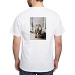 White T-Shirt -Rhino's Butt (Back Only)