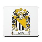Krag Coat of Arms Mousepad