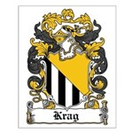 Krag Coat of Arms Small Poster