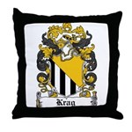 Krag Coat of Arms Throw Pillow