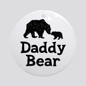Daddy Bear Round Ornament