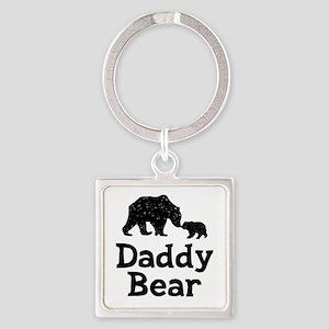 Daddy Bear Square Keychain