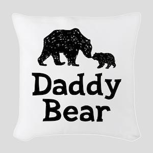 Daddy Bear Woven Throw Pillow