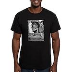 Pennsylvania Coal WPA 1938 Men's Fitted T-Shirt (d