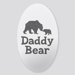 Daddy Bear Sticker (Oval)