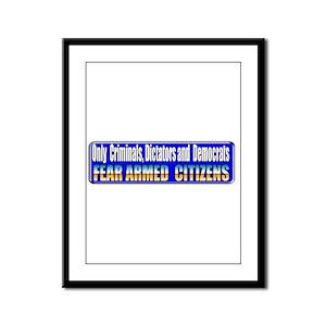 Dictators & Democrats Framed Panel Print